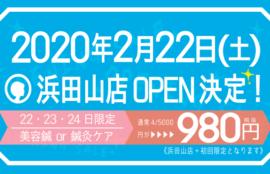 浜田山店OPEN記念!初回限定美容鍼・鍼灸ケア980円!